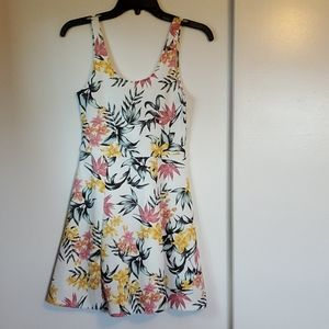 Nwt white dress with flowers